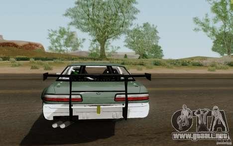 Nissan S13 Ben Sopra para GTA San Andreas vista posterior izquierda