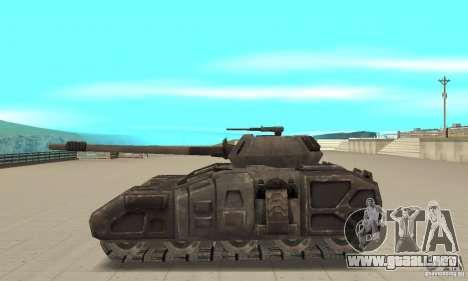 Tanque Rhino-UT para GTA San Andreas left