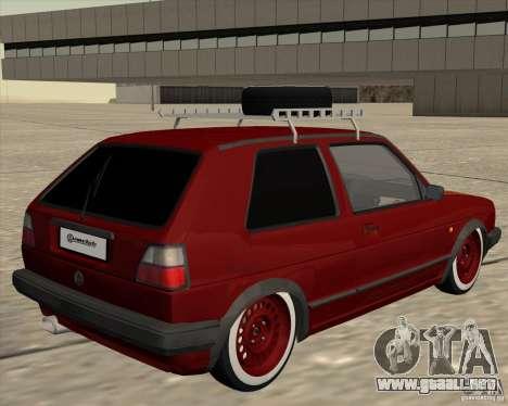 VW Golf II Shadow Crew para la visión correcta GTA San Andreas