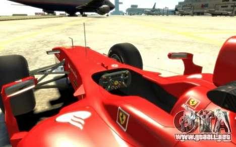 2010 Scuderia Ferrari F10 para GTA 4 visión correcta