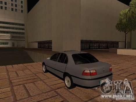 Opel Omega B 1998 v2 para GTA San Andreas vista posterior izquierda