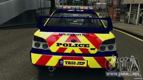 Subaru Impreza British ANPR [ELS] para GTA motor 4