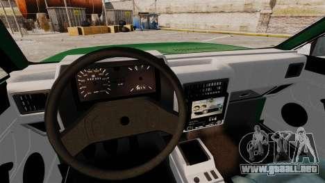 Volkswagen Gol GL 1992 Edit para GTA 4 vista superior