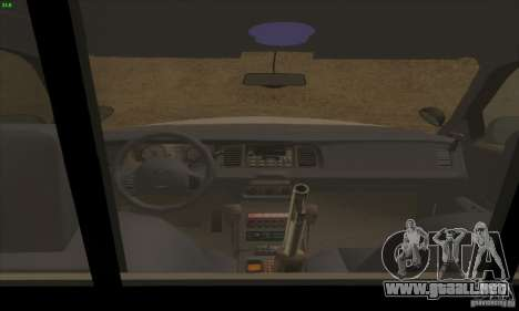 Ford Crown Victoria Arkansas Police para GTA San Andreas vista hacia atrás