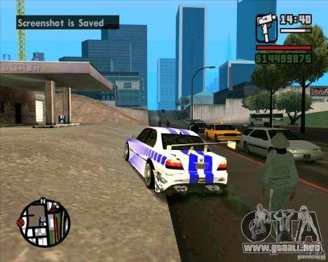 BMW 730i X-Games tuning para GTA San Andreas left
