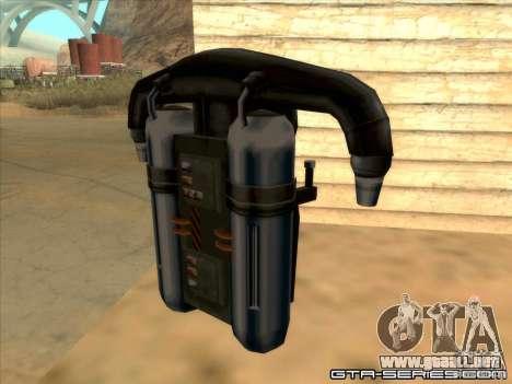 Jetpack spawner para GTA San Andreas segunda pantalla
