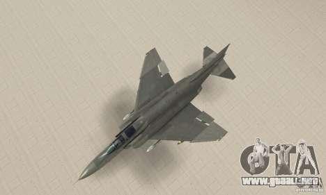 F-4E Phantom II para GTA San Andreas vista posterior izquierda