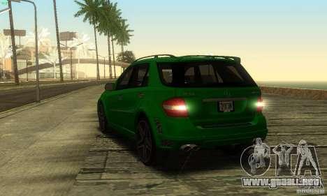 Mercedes-Benz ML63 AMG Brabus para visión interna GTA San Andreas