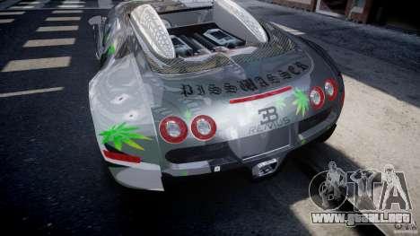 Bugatti Veyron 16.4 v1.0 new skin para GTA 4 vista desde abajo