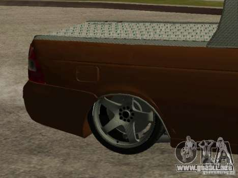 LADA 2170 Pickup para vista inferior GTA San Andreas