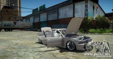 BMW 530i E39 para GTA 4 Vista posterior izquierda