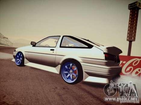 Toyota Corolla AE86 para GTA San Andreas left