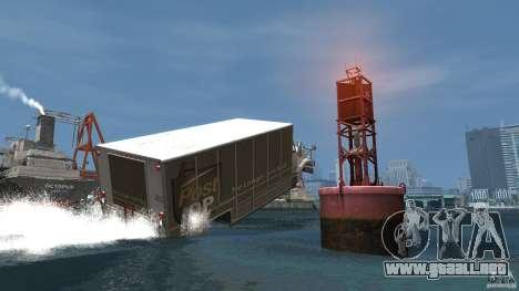 Benson boat para GTA 4 vista hacia atrás