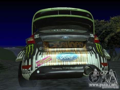 Ford Fiesta Ken Block WRC para GTA San Andreas vista posterior izquierda