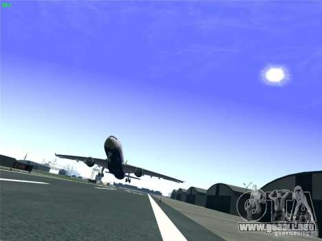 Airbus A330-300 US Airways para la vista superior GTA San Andreas