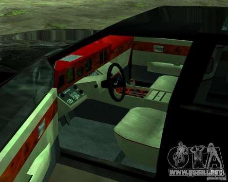 Aston Martin Lagonda para vista inferior GTA San Andreas