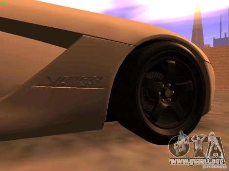 Dodge Viper SRT-10 Roadster para GTA San Andreas vista posterior izquierda