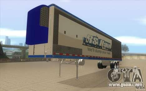 Remolque para camión Optimus Prime para la visión correcta GTA San Andreas