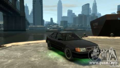 Audi 100 para GTA 4 Vista posterior izquierda