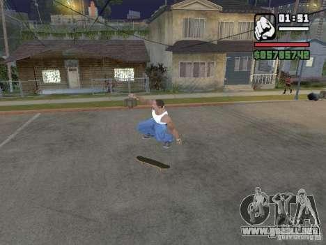 Skate para GTA SA para GTA San Andreas sucesivamente de pantalla