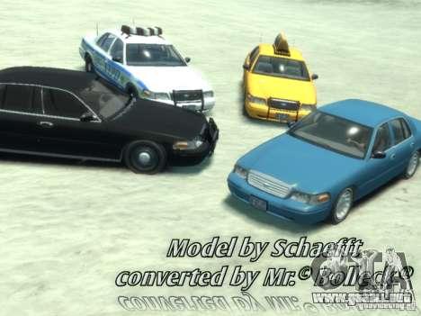 Ford Crown Victoria Taxi para GTA 4 left