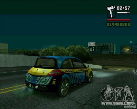 Renault Megane II RS para GTA San Andreas vista posterior izquierda