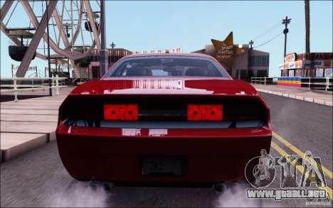 Dodge Challenger Rampage Customs para vista lateral GTA San Andreas