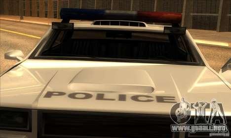 Police Hero v2.1 para GTA San Andreas vista posterior izquierda
