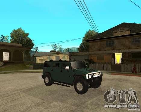 AMG H2 HUMMER SUV para la visión correcta GTA San Andreas
