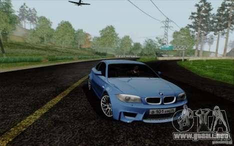 BMW 1M 2011 V3 para GTA San Andreas vista posterior izquierda