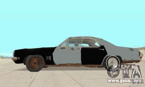 Pontiac LeMans 1970 Scrap Yard Edition para GTA San Andreas vista posterior izquierda