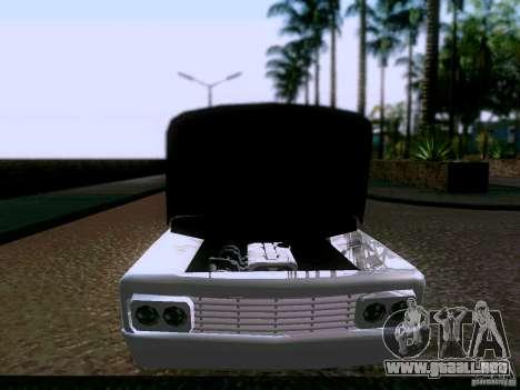 Slamvan Tuned para GTA San Andreas vista hacia atrás