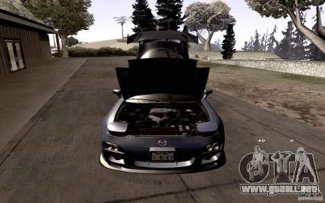 Mazda RX-7 Hellalush para GTA San Andreas interior