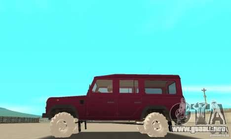 Land Rover Defender 110SW para la vista superior GTA San Andreas