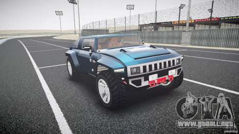 Hummer HX para GTA 4 vista hacia atrás