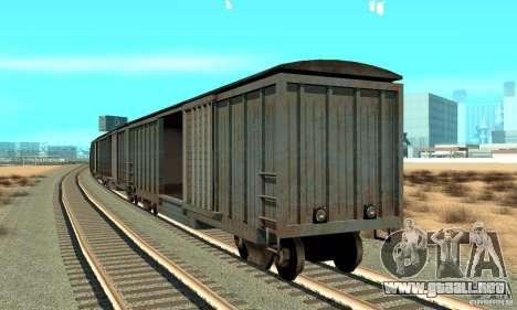 Carro para GTA San Andreas vista posterior izquierda