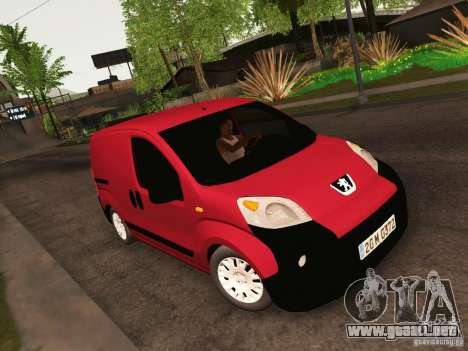 Peugeot Bipper para visión interna GTA San Andreas