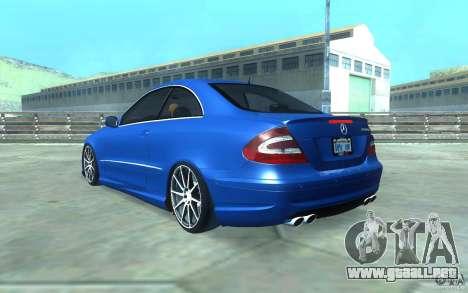Mercedes-Benz CLK55 AMG para vista inferior GTA San Andreas