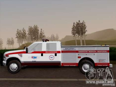 Ford F-350 AMR Supervisor para vista lateral GTA San Andreas