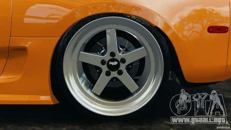 Toyota Supra Tuning para GTA 4 vista desde abajo
