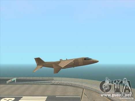 Cargo Shamal para GTA San Andreas vista posterior izquierda