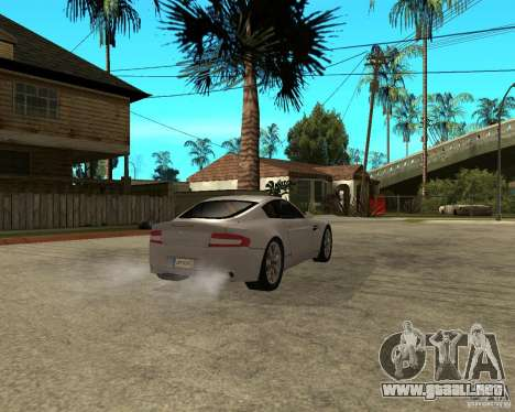 Aston Martin VANTAGE concept 2003 para GTA San Andreas vista posterior izquierda