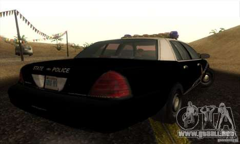 Ford Crown Victoria Idaho Police para GTA San Andreas left