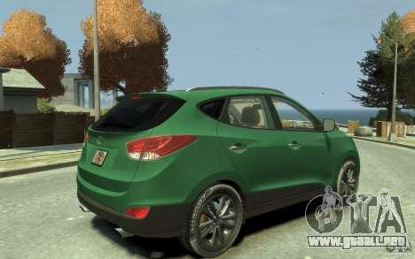 Hyundai IX35 2010 Beta para GTA 4 visión correcta