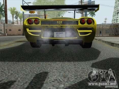 Saleen S7 Twin Turbo Competition Custom para GTA San Andreas vista hacia atrás
