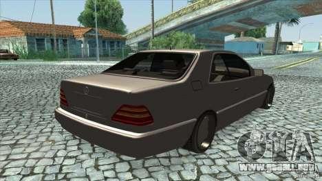 Mercedes Benz 600 Sec para la visión correcta GTA San Andreas
