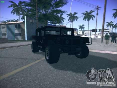 Hummer H1 1986 Police para la visión correcta GTA San Andreas