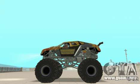Monster Truck Maximum Destruction para la visión correcta GTA San Andreas