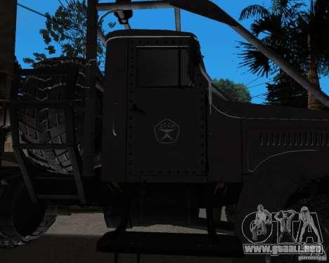 KrAZ 255 + remolque artict2 para GTA San Andreas vista hacia atrás