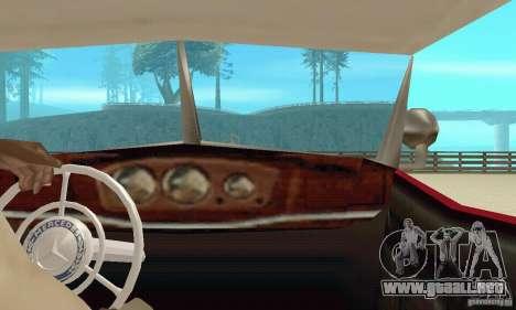 Mercedes-Benz 500K para visión interna GTA San Andreas